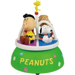 Peanuts Charlie Brown Snoopy Linus Musical Figurine New