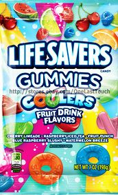 LIFE SAVERS Candy x1 Bag Gummies COOLERS Fruit Drink Flavors 7 oz Exp