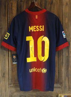 Lionel Messi Barcelona Shirt With Original Autograph Genuine Signed