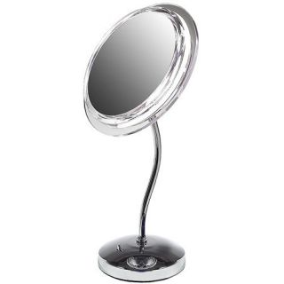New Lighted Magnifying Makeup Make Up Mirror 6X Nickel
