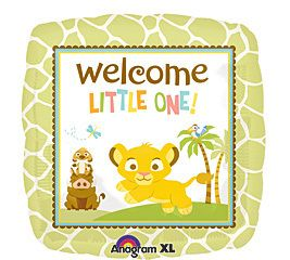 Lion King Welcome Little One 18 Mylar Foil Balloon Simba Timone and