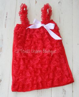 Toddler Lace Tank Top Patriotic Shirt Red Lace Camisole Ruffles 24mo