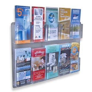 Pockets Wall Mount Brochure Holder Literature Rack Display