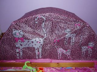 LILLIAN VERNON LEOPARD CATS PINK AND BLACK TWIN SIZE BED TENT W