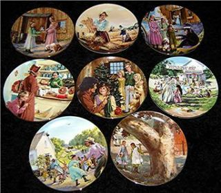 Little House on The Prairie Family TV Show Plate Set
