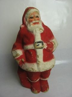 Vintage Animal Trap Co Lititz Pa Paper Mache Santa Claus Christmas