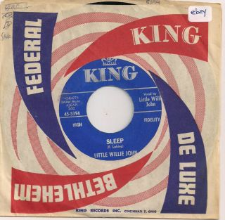 Little Willie John Sleep B w Theres A Difference 45 Original
