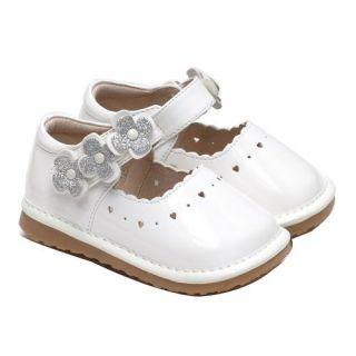 Squeaky White Mary Jane Shoes by Little Blue Lamb 3 4 5 6 7