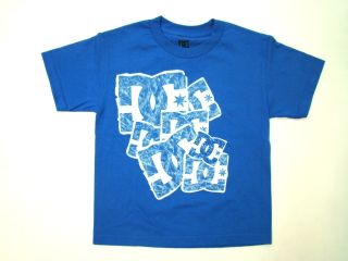 BOYS T SHIRT BLUE STAMP PASTE STAR LOGO TEE SKATEBOARD SIZE SMALL