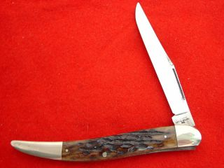 Case Bros Little Valley NY PRE1920 Bone Stag 5 61093 Toothpick Knife