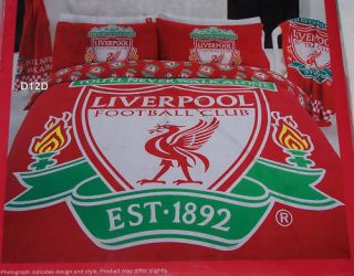 Liverpool FC Logo Red Queen Bed Quilt Cover Set New