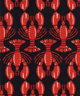 Timeless Treasures Fabric Lobster Love Lobsters on Black Catch of Day
