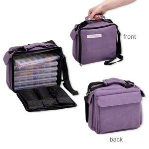 Purple Craft Mates Ezy Lockin Caddy Organizer 84 Compartments Tote
