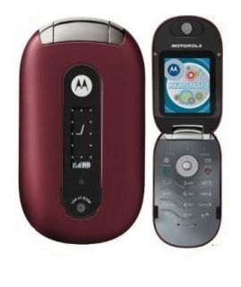 Motorola PEBL U6 Unlocked GSM Red T Mobile Cell Phone