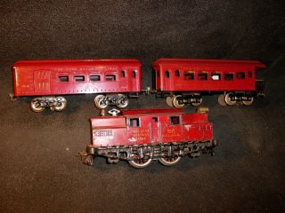 Ives No 3241 Loco 3 Car Passenger Set