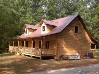 Log Home Package Kit 28 x 40 2 Level Logs 2nd Floor Roof Porch 31 985