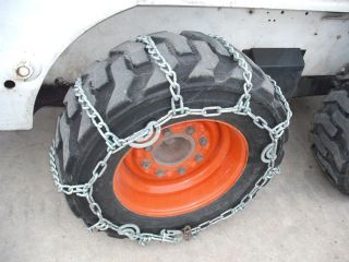 10 16 5 Skidsteer Skidloader Tire Chains Pair Fit Bobcat John Deere