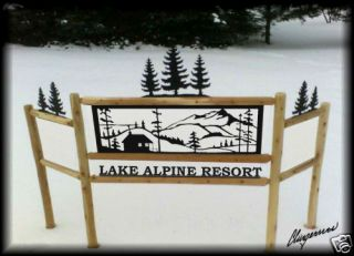 Cabin Signs Rustic Log Decor Motel Lodge Sign Outdoor Signs