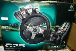 Logitech G25 Racing Steering Wheel PC PS3 in Box