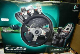 Logitech G25 Racing Steering Wheel PC PS3 in Box
