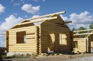 Log Cabin Home Shell Kit Logs 16ft x 20ft
