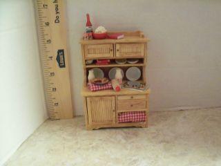 Dollhouse Miniature 1 12 Ratio Kitchen Cabinet Loaded OOAK