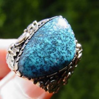 Lone Mountain Natural Spiderweb Turquoise custom design ring by