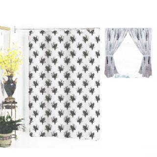 Home Fashion Matching Extra Long 84 Shower Window Curtain Set