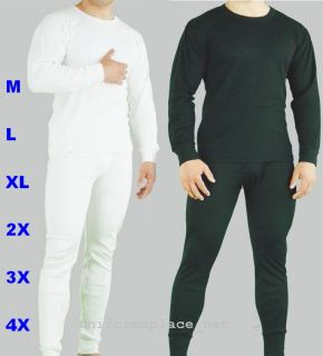 Mens Thermal 2pc Set Underwear Long John Big Size Color