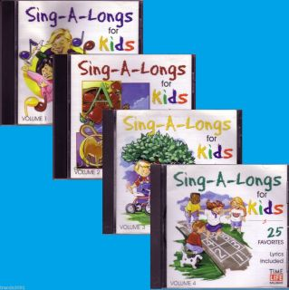 Time Life Sing A Longs for Kids 4CD Lot Classic Greatest Hits Best