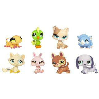 LITTLEST PET SHOP 8 Pets Collectors Pack 1362 1369 Parrot Gecko Guiena