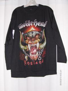 Motorhead England Long Sleeve Shirts L XL XXL Black