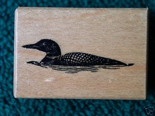 PSX Loon Minnesota State Bird Cabin Lake Outdoor Camp Rubber Stamp B