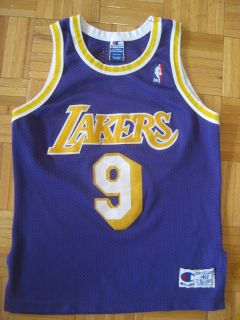 NBA NICK VAN EXEL Los Angeles LAKERS Authentic Champion Jersey Size 40
