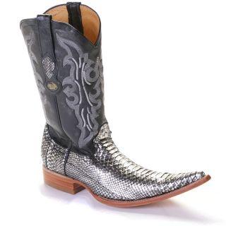 6X Toe Python Western Cowboy Boots by Los Altos Boots