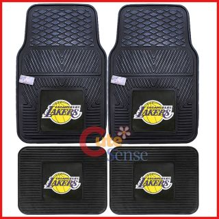 Los Angeles Lakers Car Floor Mat 4pc Utility Fanmats NFL Auto