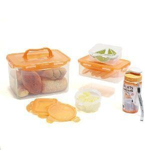 Lock Lock BPA Free 10 Pc Lunch Box Food Storage Containers Incl Bottle