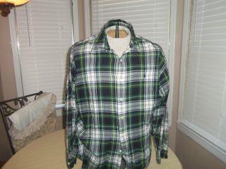 Mens L Large Ralph Lauren Shirt Blaire Flannel Long Sleeves 102510