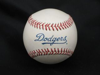Los Angeles Dodgers Team Logo Baseball New Autograph