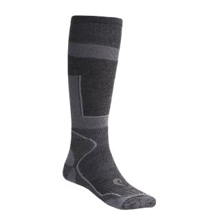 Pair Lorpen 40% Italian Merino Wool Ski Socks Charcoal Small 2nds