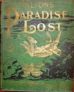PARADISE LOST 1901 JOHN MILTON GUSTAVE DORE ILLUS FINE THOMPSON THOMAS
