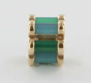 Estate Designer Louise Kennedy 14k Yellow Gold Turquoise Agate