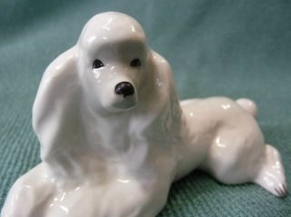 Lomonosov Porcelain Poodle Dog Figure USSR
