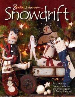 Snowdrift NeedL Love Make do Dolls Quilt Penny Wool Primitive Snowmen