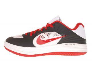 Nike Lunar Hypergamer Low Black Red White Mens Basketball Shoes 511368
