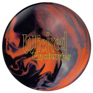 COLUMBIA BOWLING BALL WICKED ENCOUNTER ORANGE BLACK SILVER Weight 14