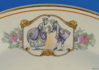 Salem China Century People Man Woman 2 Salad Plates