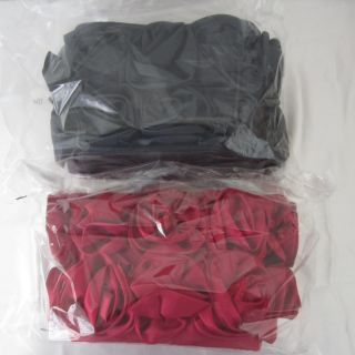 LORI GREINER SATIN ROSE RED BLACK INTERCHANGEABLE 3 PIECE SET FLORAL