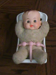 RELIABLE 9 Vintage Canadian LORRIE Baby Doll w Carrier Plush Body