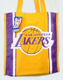 Los Angeles Lakers NBA Yellow Shopping Cloth Tote Bag